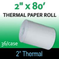 "Thermal Paper Roll - 2"" x 80' (For Zebra)"
