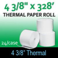 "Thermal Paper Roll - 4 3/8"" x 328'"