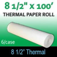 "Thermal Paper for Pentax- 8 1/2"" x 100' (6 Rolls)"