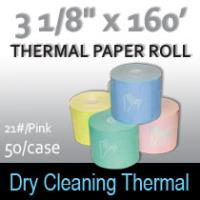 Dry Cleaning Thermal Roll- 160'/21#/Pink
