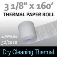 Dry Cleaning Thermal Roll- 160'/21#/White