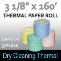 Dry Cleaning Thermal Roll- 160'/21#/Yellow