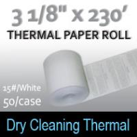 Dry Cleaning Thermal Roll- 230'/15#/White