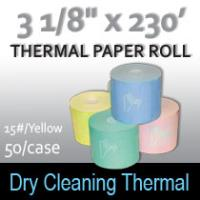 Dry Cleaning Thermal Roll- 230'/15#/Yellow