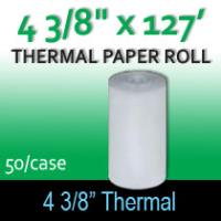 "Thermal Paper Roll - 4 3/8"" x 127' Route Delivery"