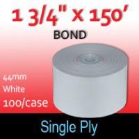"Single Ply White Bond Roll - 1 3/4"" x 150' (44MM)"