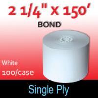 "Single Ply White Bond Roll - 2 1/4"" x 150'"
