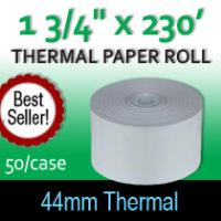 "Thermal Paper Roll - 1 3/4"" x 230' (44MM)"