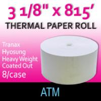 "Tranax-Hyosung Paper- 3 1/8"" x 815'-Coated Side Out"