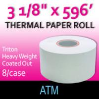 "Triton Thermal Paper - 3 1/8"" x 596' (Hvy Wght/Coated Out)"