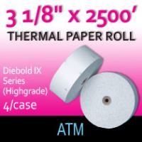 "Diebold IX Series - 3 1/8"" x 2500' (Highgrade Thermal)"