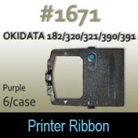 Okidata 182/320/321/390/391 Ribbon (Purple) #1671