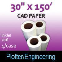 "CAD Paper-InkJet-  30"" x 150' 20# (4 Rolls)"