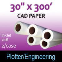 "CAD Paper- InkJet- 30"" x 300' 20# (2 Rolls)"