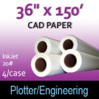 "CAD Paper-InkJet- 36"" x 150' 20# (4 Rolls)"