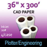 "CAD Paper-InkJet- 36"" x 300' 20# (2 Rolls)"