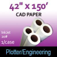 "CAD Paper-InkJet- 42"" x 150' 20# (1 Roll)"