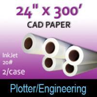 "CAD Paper-InkJet- 24"" x 300' 20# (2 Rolls)"