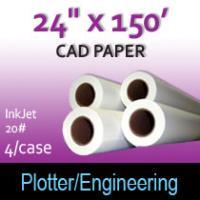 "CAD Paper-InkJet- 24"" x 150' 20# (4 Rolls)"