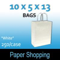 Paper Shopping Bags-White (10 x 5 x 13)