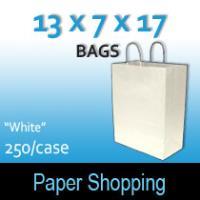 Paper Shopping Bags-White (13 x 7 x 17)