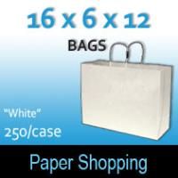 Paper Shopping Bags-White (16 x 6 x 12)