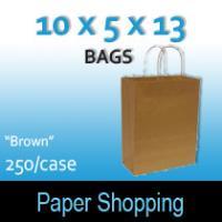Paper Shopping Bags-Brown (10 x 5 x 13)