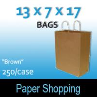 Paper Shopping Bags-Brown (13 x 7 x 17)