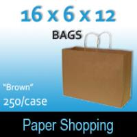 Paper Shopping Bags-Brown (16 x 6 x 12)