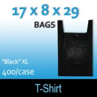 "T-Shirt Bags (17 x 8 x 29) ""Black"" XL"