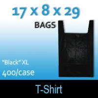 """T-Shirt Bags (17 x 8 x 29) """"Black"""" XL"""
