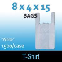 "T-Shirt Bags (8 x 4 x 15) ""White"""
