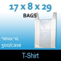 "T-Shirt Bags (17 x 8 x 29) ""White"" XL"