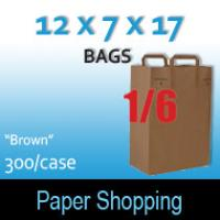 1/6 Brown Handle Bags (12 x 7 x 17)