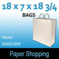 Paper Shopping Bags-White (18 x 7 x 18 3/4)