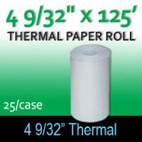 "Thermal Paper Roll - 4 9/32"" x  125"""