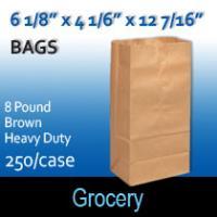 8# Brown Heavy Duty Bags (6 1/8 x 4 1/16 x 12 7/16)