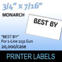 "Monarch ""Best By"" Labels (For 1-Line 1131 Gun)"