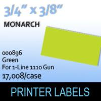 """Monarch """"Green"""" Tag Labels (For 1-Line 1110 Gun)"""