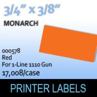 """Monarch """"Red"""" Tag Labels (For 1-Line 1110 Gun)"""