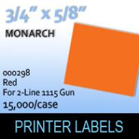 """Monarch """"Red"""" Tag Labels (For 2-Line 1115 Gun)"""