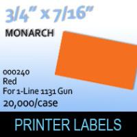 """Monarch """"Red"""" Tag Labels (For 1-Line 1131 Gun)"""