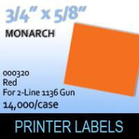 """Monarch """"Red"""" Tag Labels (For 2-Line 1136 Gun)"""