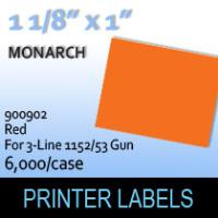 "Monarch ""Red"" Tag Labels  (For 3-Line 1152/53 Gun)"
