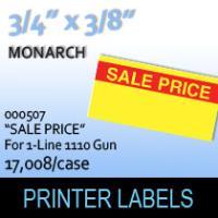 "Monarch ""Sale Price"" Tag Labels (For 1-Line 1110 Gun)"