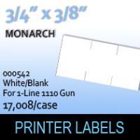 "Monarch ""White/Blank"" Labels (For 1-Line 1110 Gun)"