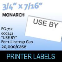"Monarch ""Use By"" Labels (For 1-Line 1131 Gun)"