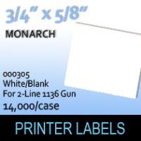 "Monarch ""White/Blank"" Labels (For 2-Line 1136 Gun)"