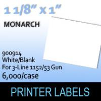 "Monarch ""White/Blank"" Labels (For 3-Line 1152/53 Gun)"