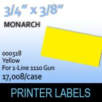 """Monarch """"Yellow"""" Tag Labels (For 1-Line 1110 Gun)"""